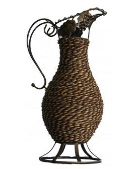Jarre habillée en fibres végétales