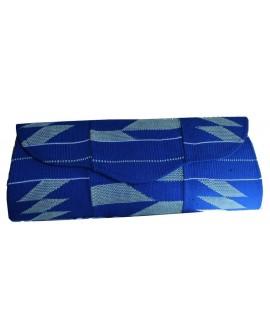 Pochette Kenté bleue