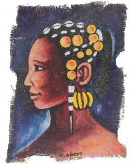Peinture: TABATA la femme coquette