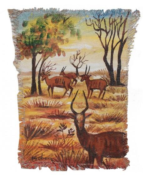 Peinture: La marche des gazelles
